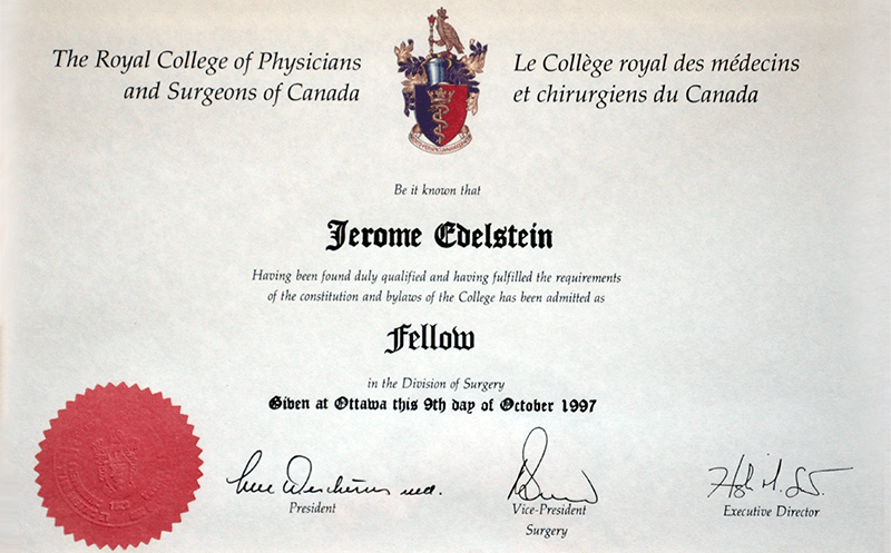 Fellow of the Royal College of Physicians and Surgeons of Canada