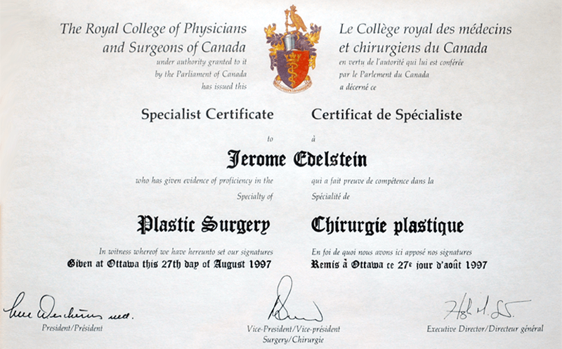 Royal College of Physicians and Surgeons of Canada, Plastic Surgery